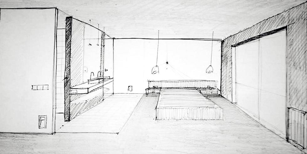 Boceto de habitación principal