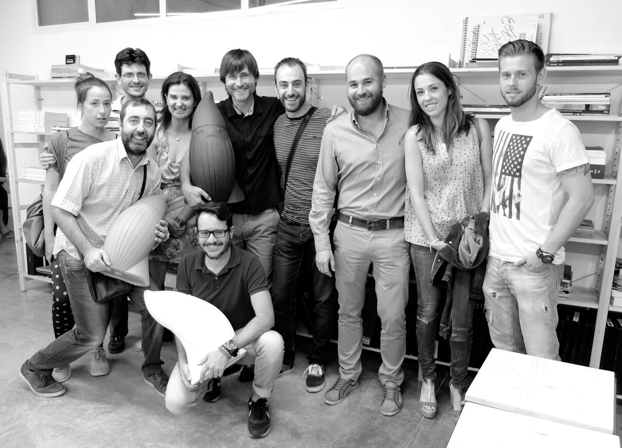 Jaume Chiralt con un grupo de amigos durante la celebración
