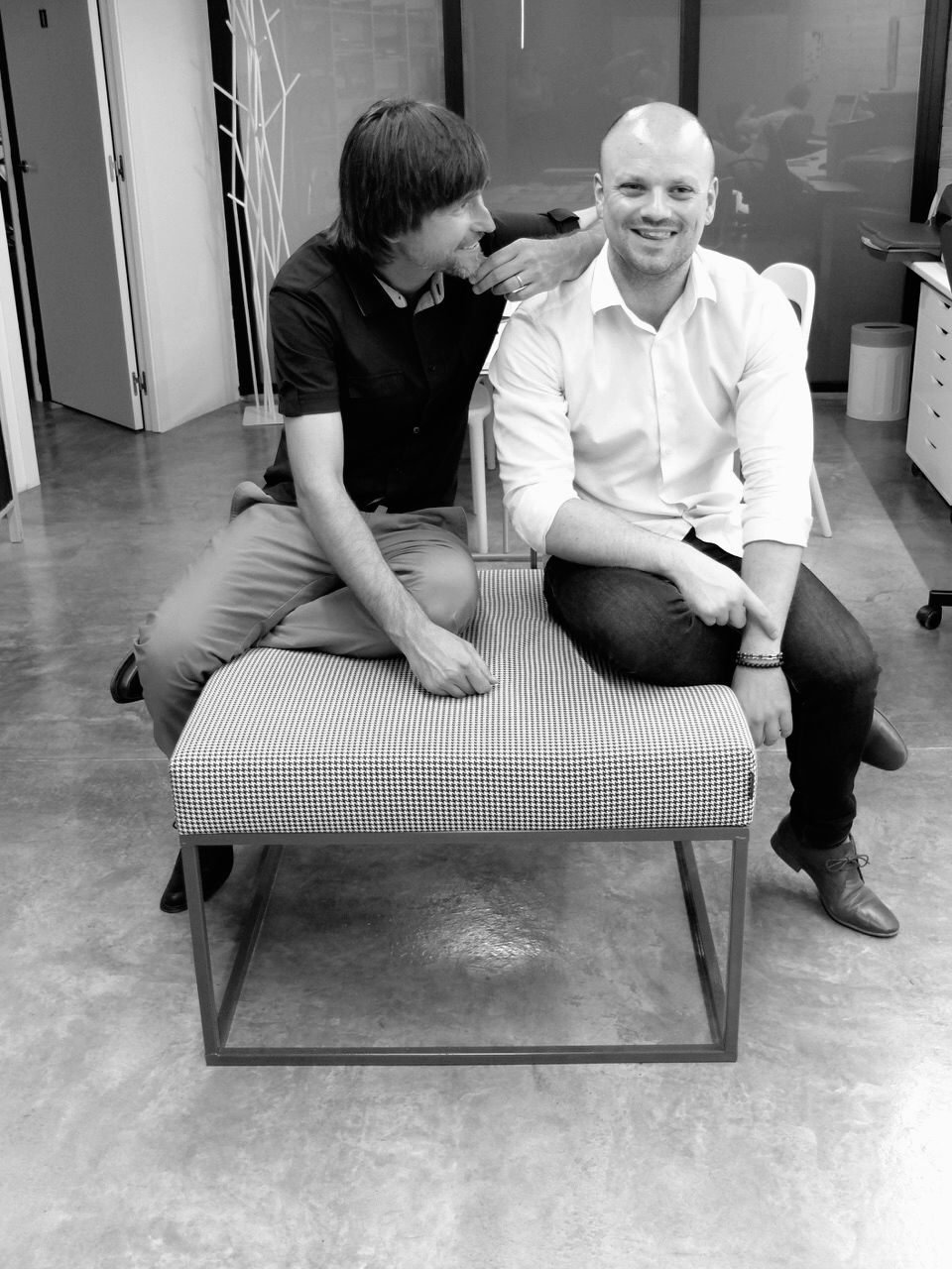 Jaume Chiralt junto a Ronan Risselin, Manager de Axthor