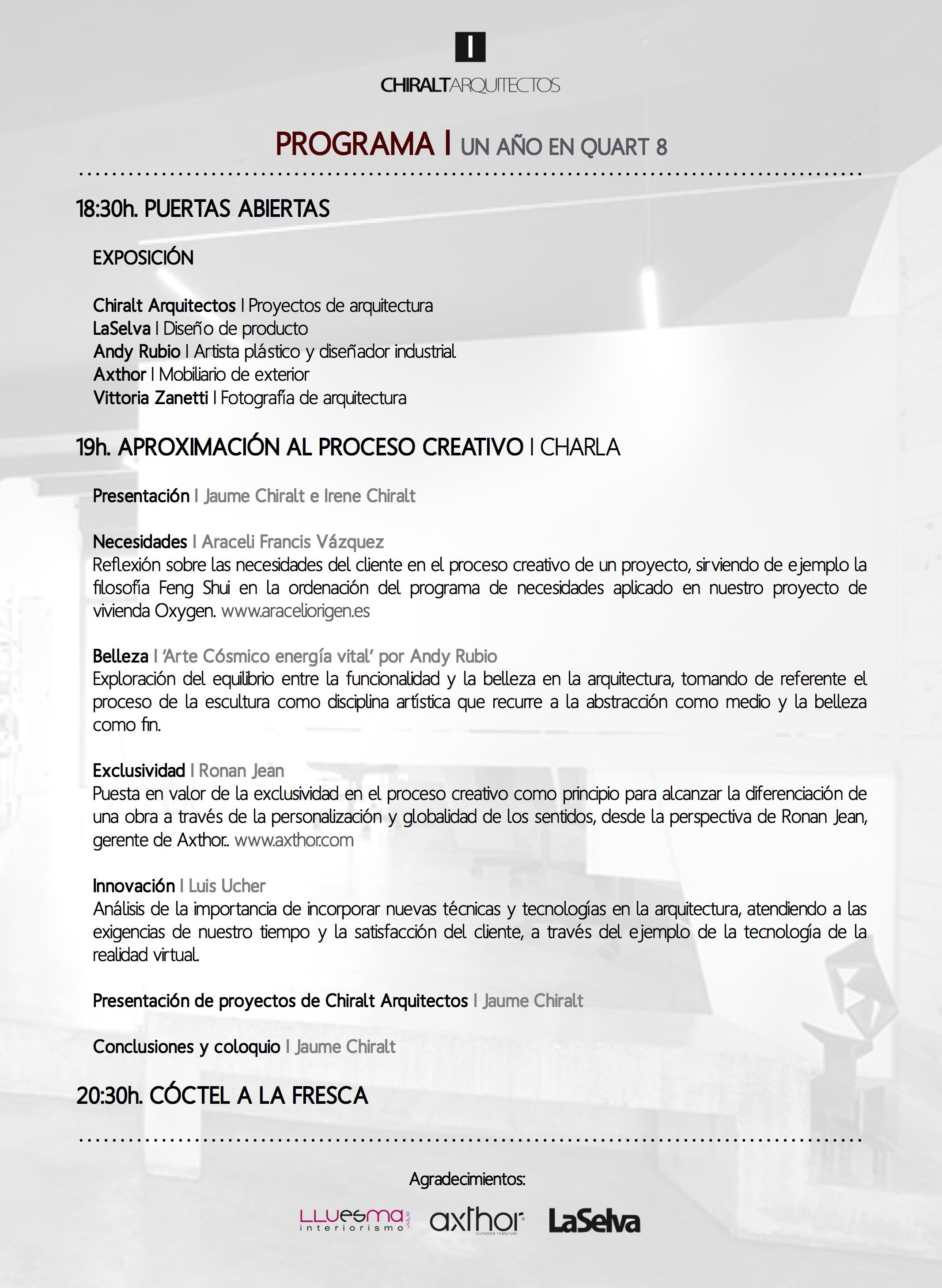 Un año en Quart I Chiralt Arquitectos Valencia