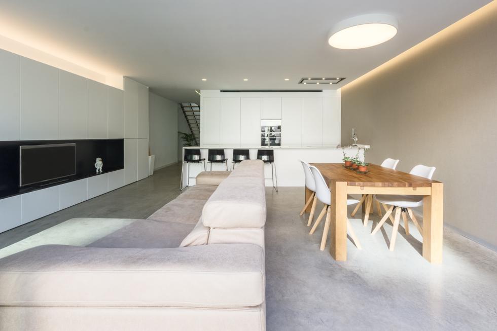 Zona de día, salón estilo escandinavo en vivienda estilo nórdico - Chiralt Arquitectos Valencia